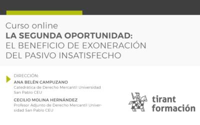 Ana Belén Campuzano dirige el curso de experto «La segunda oportunidad: el beneficio de exoneración del pasivo insatisfecho»